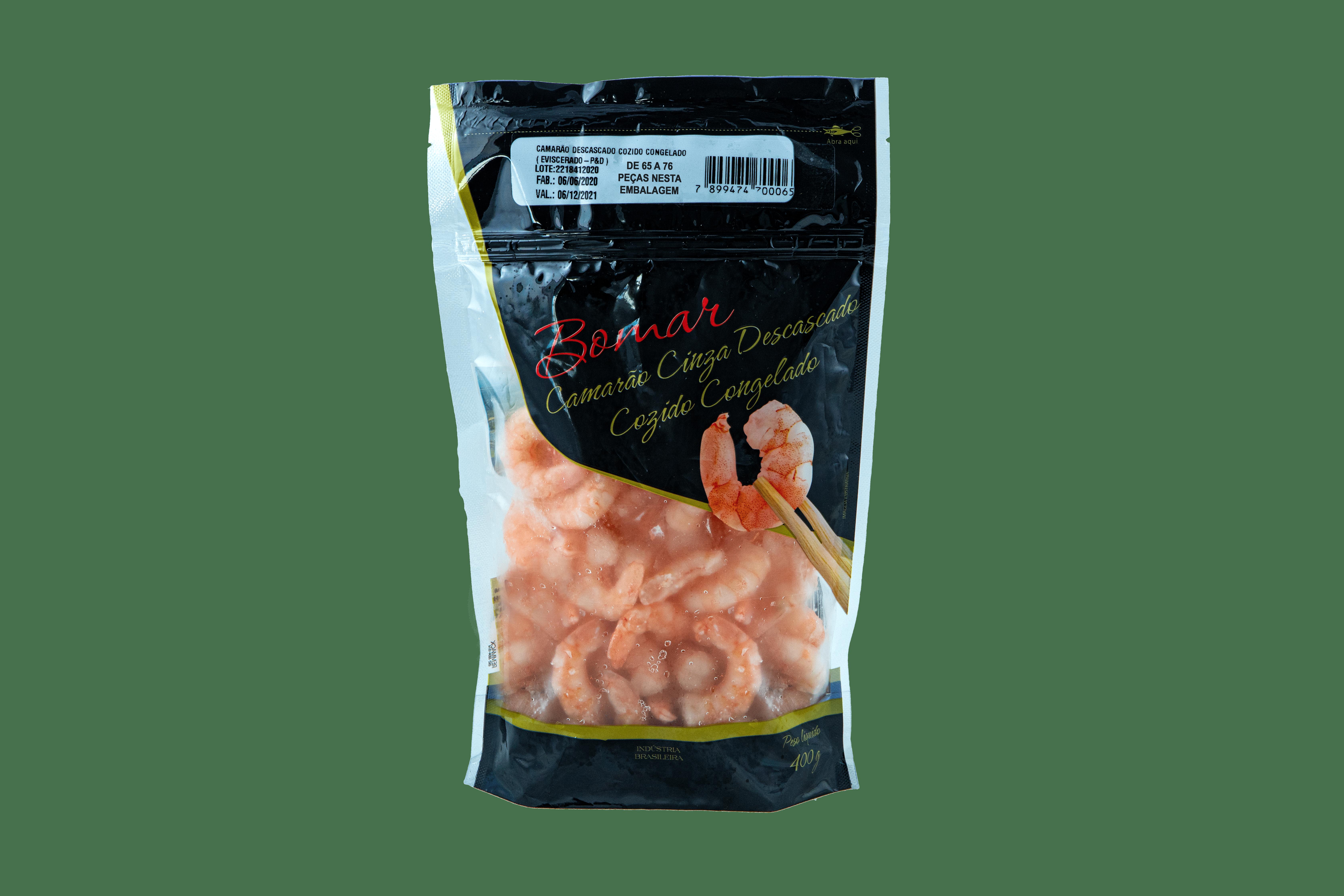 Camarão Descascado Cozido Congelado 51/60 Bomar 400g